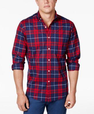 plaid shirts club room menu0027s stretch plaid shirt, created for macyu0027s xyvevjx