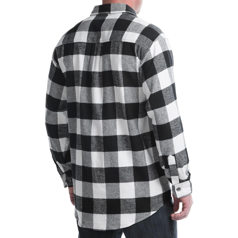 plaid shirts moose creek brawny plaid shirt - 9 oz. flannel, long sleeve (for men) rhzwswp