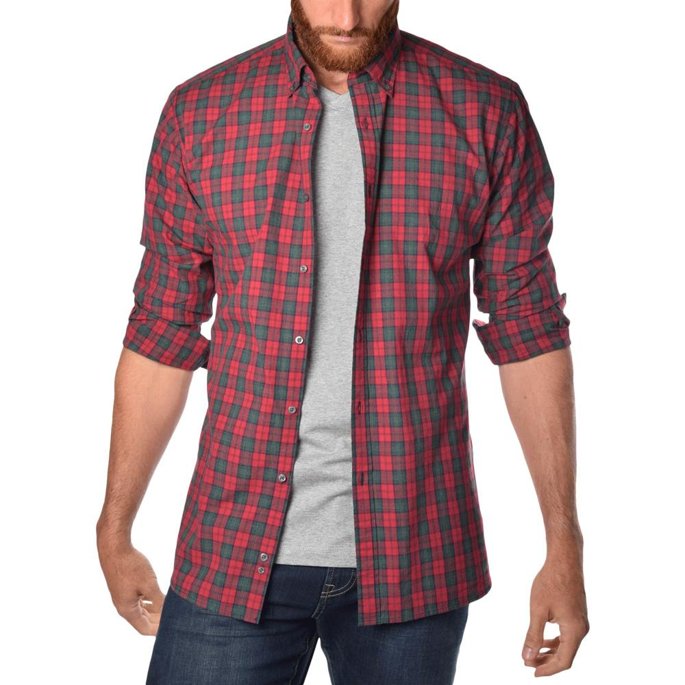 plaid shirts the soft-wash shirt in bonfire red plaid zsxldvt
