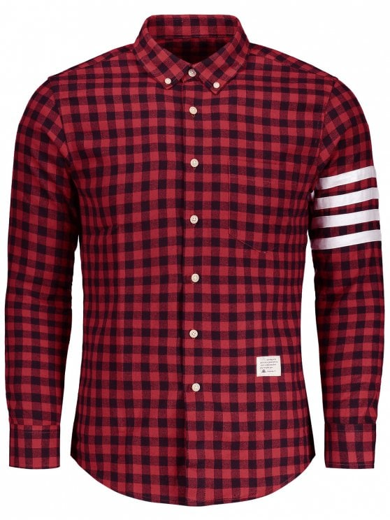plaid shirts unique button down plaid shirt - red 2xl aiwivff