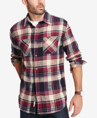 plaid shirts weatherproof vintage menu0027s brushed flannel plaid shirt uciyjpp
