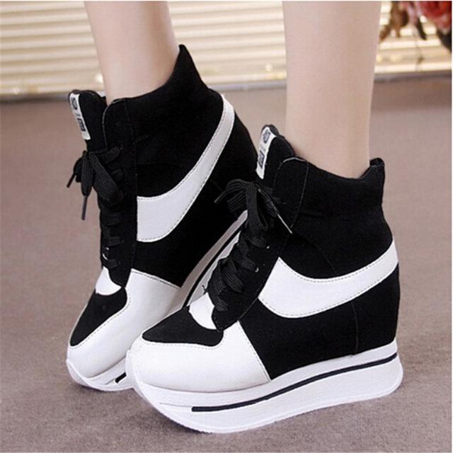 platform shoes for women spring autumn platform sneakers women shoes girls high-top sneakers for  women sport dnhwkpd