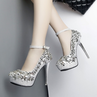 platform shoes sequin appliques floral high heels for women ... odzydsr
