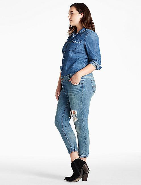 plus size boyfriend jeans 410 lucky plus size georgia boyfriend jean in hatch zjpadju