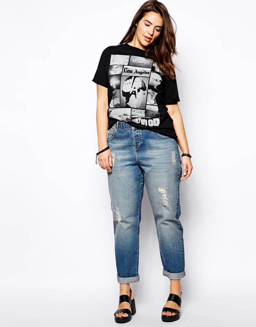 plus size boyfriend jeans studded jeans-these embellished, no-see-um vogue jeans area unit a trifle  rough, funky, yjbwzwr