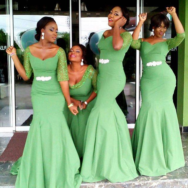 plus size emerald green bridesmaid dresses with sequined half sleeves scoop  sheath nlveeix