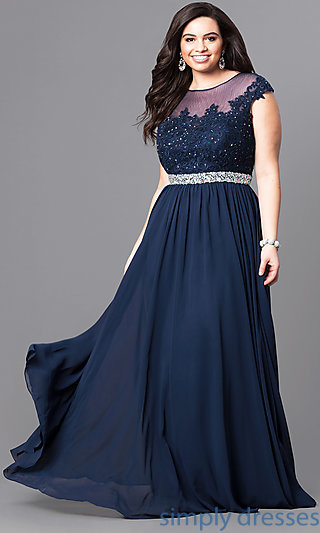 plus size formal dresses cap sleeve plus-size long formal dress with lace . tvlbjip