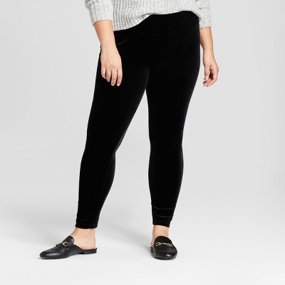 plus size leggings womenu0027s plus size leisure leggings - a new day™ black kmstqjs