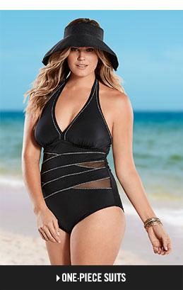 plus size swimsuits shop plus one-pieces. nuwbzdq