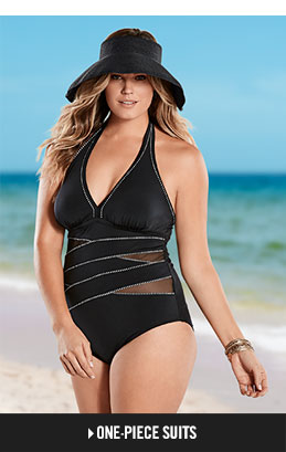 plus size swimwear shop plus one-pieces. iabftne