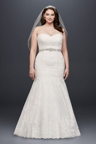 plus size wedding dress long mermaid/ trumpet formal wedding dress - davidu0027s bridal collection cjxcxpy