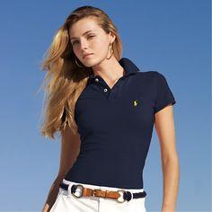 polo shirts for women cheap polo ralph lauren womenu0027s classic-fit short sleeve polo shirt navy  blue cgxapgp