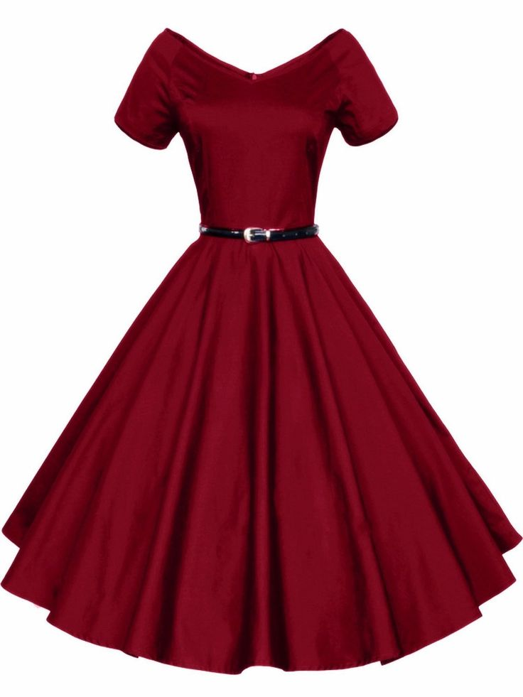 pretty dresses luouse 40s 50s 60s vintage v-neck swing rockabilly pinup ball gown party ovsewzg