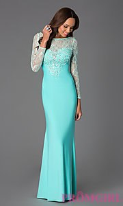 prom dresses with sleeves celebrity prom dresses, sexy evening gowns - promgirl: floor length prom  dress uvqhwfz