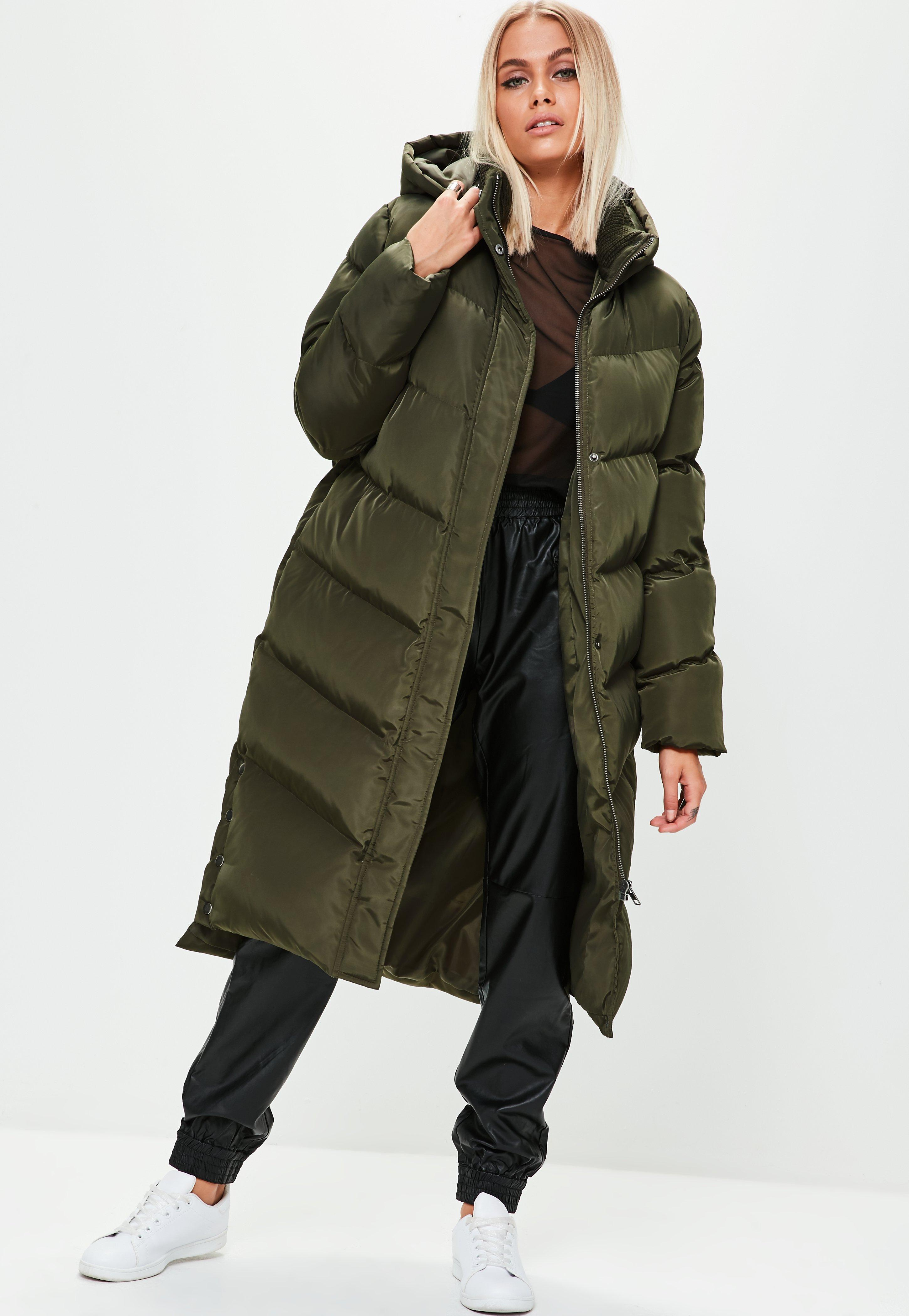 Winter fashion with puffer coat