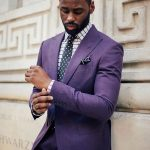 Glam up your attire with purple suit