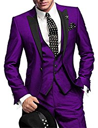 purple suit slim fit menu0027s suit 3pc suit jacket, vest,suit pants hrhqczl