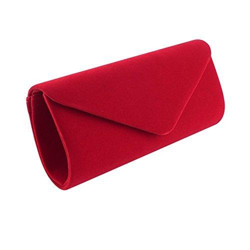Red Clutch Bag Clorislove Womenu0027s Retro Velvet Envelope Evening Party Prom Handbag