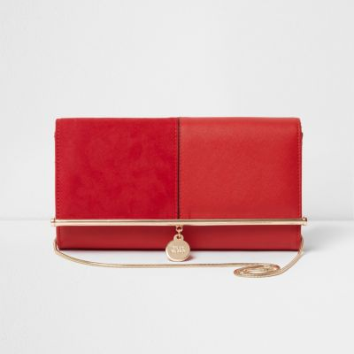 red clutch bag red bar top charm clutch bag gzmvdye