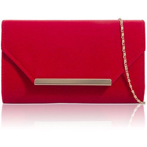 red clutch bag xardi london red women faux
