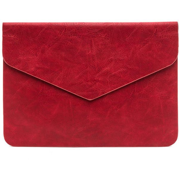 red clutch bag youu0027ve got mail envelope clutch red found on polyvore featuring bags,  handbags, ziuwgcz
