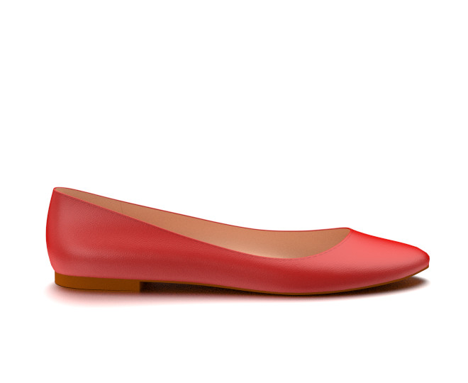 red flats ballet flat made from red soft