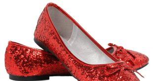 red flats womenu0027s red glitter flats qkdutmc