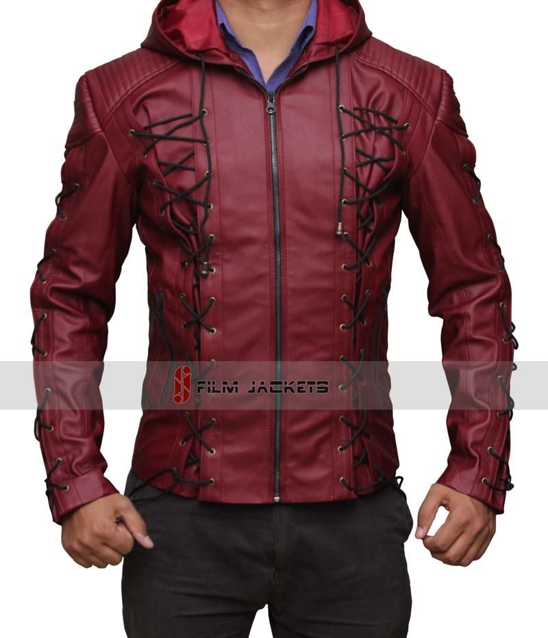 red leather jacket arsenal red hood leather jacket arsenal jacket by fjackets ... oarjdvb