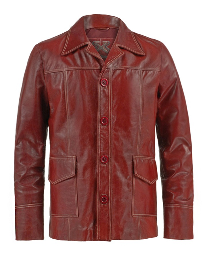 red leather jacket fight club original lfxqyjd