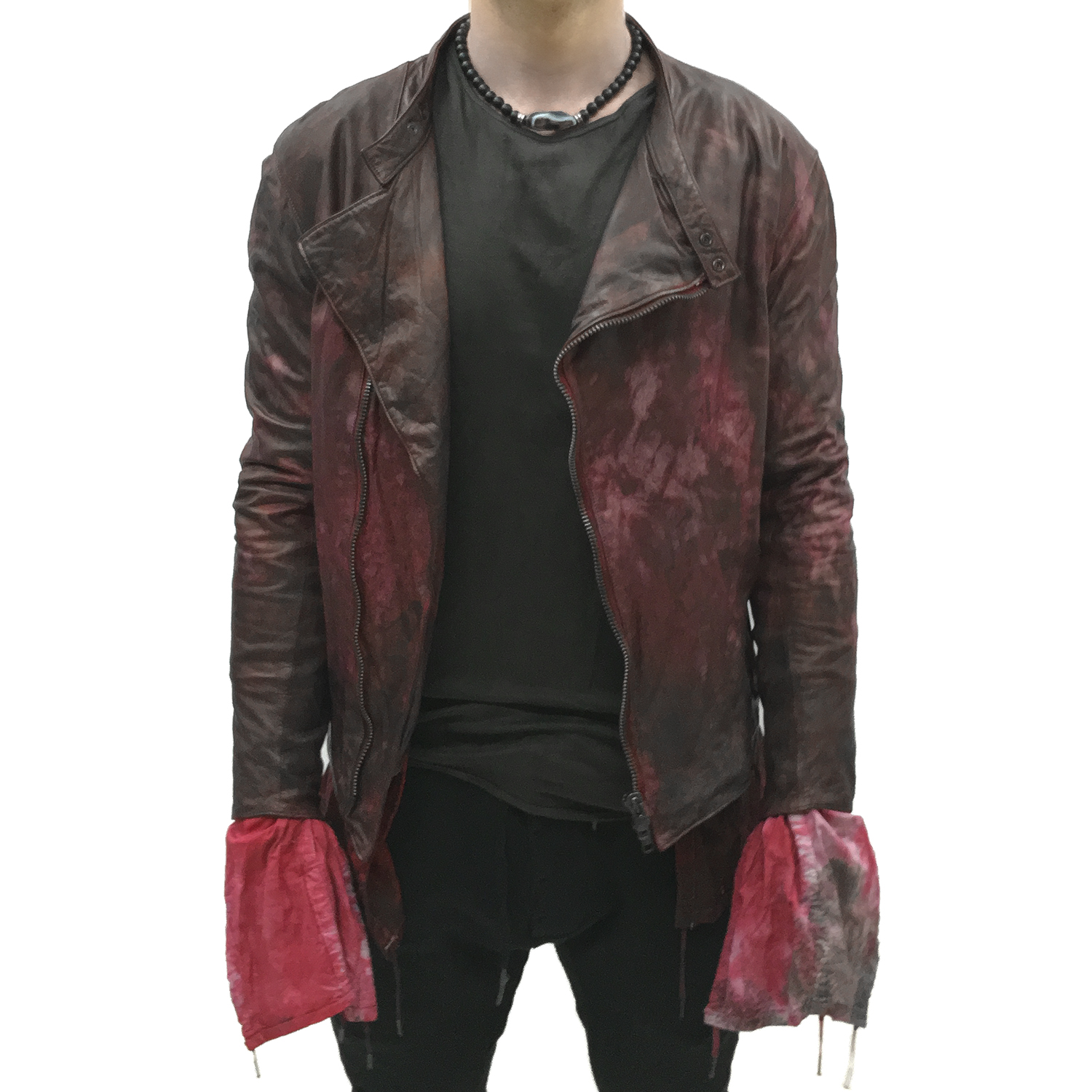 red leather jacket top gbeskea