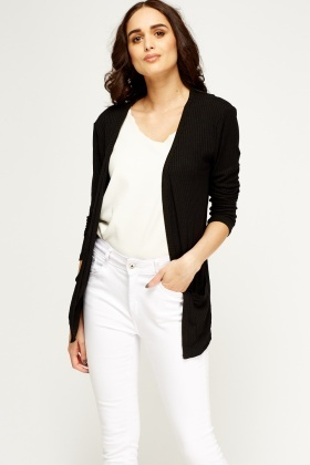 ribbed black cardigan sriafol