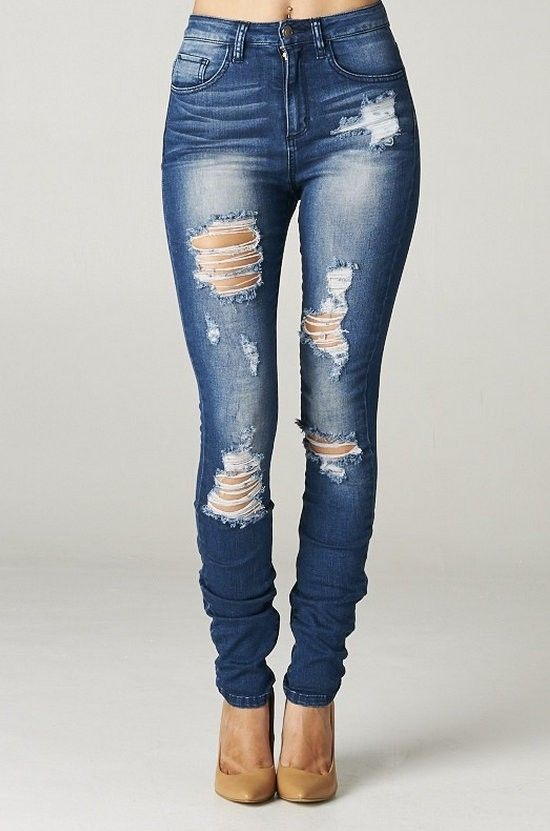 ripped jeans for women high rise destroyed skinny jeans ripped womens dark blue denim waist  distressed dfcphzo