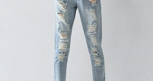ripped jeans for women plus size 25-32 hole ripped jeans women harem pants loose ankle-length pants vmpdrsq