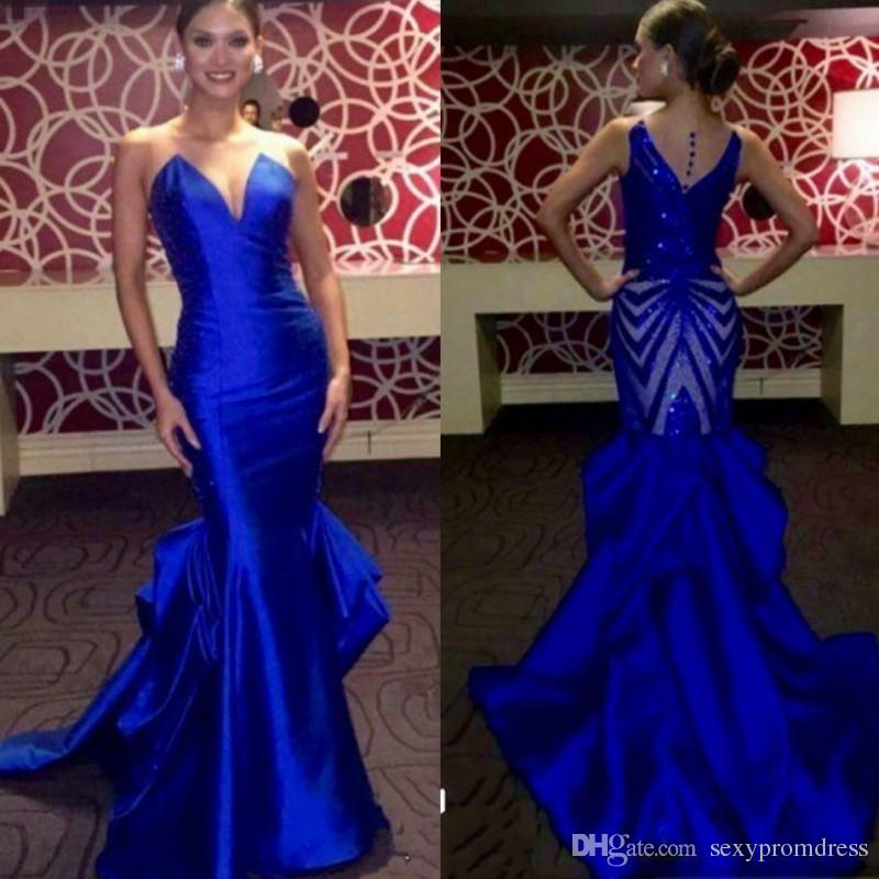 royal blue prom dresses elegant royal blue evening