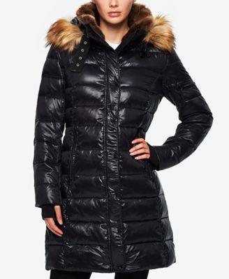 s13 faux-fur-trim down puffer coat ibctftj