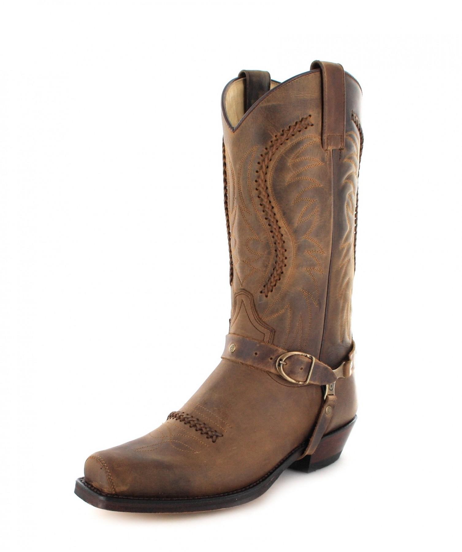sendra boots 3434 tang biker boot - brown - image ... fzhxuks