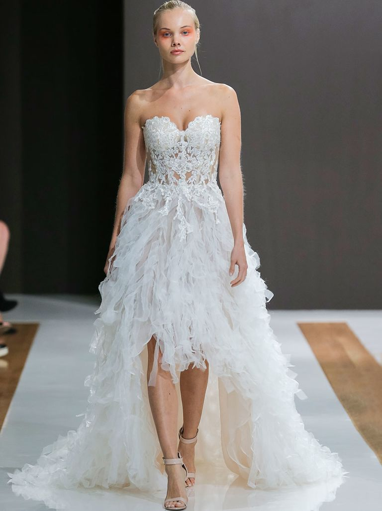 sexy wedding dresses high low wedding gown with corset top psvzemz
