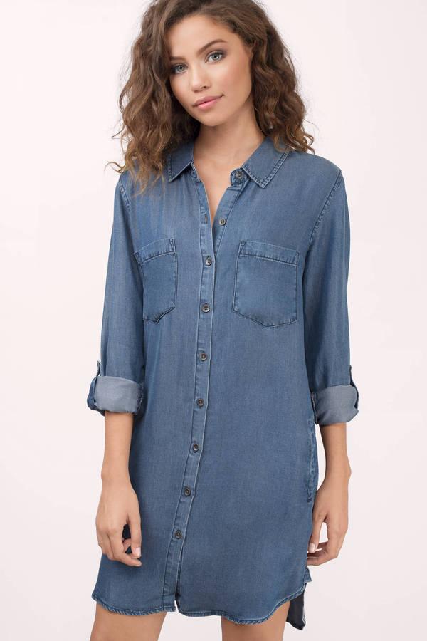 shirt dress olive dress - denim dress with sleeves - shift dress - $31 | uvpxxrr