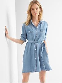 shirt dress tencel™ denim tie-belt shirtdress lbqmiun