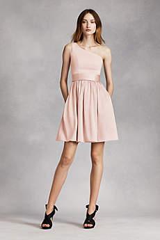 short bridesmaid dresses soft u0026 flowy white by vera wang short bridesmaid dress vylufnq