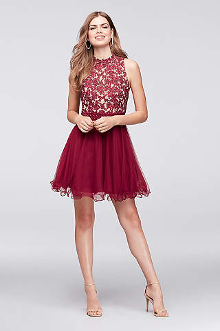 short prom dress short ballgown halter quinceanera dress - city triangles xorevvf