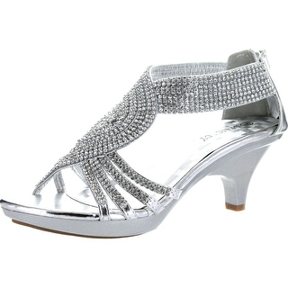 silver dress shoes delicacy womens angel-37a open toe med heel wedding dress sandal shoes - pzqrhar