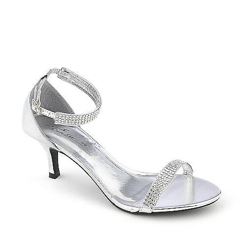 silver dress shoes sweet seventeen janee-01 silver evening low heel dress shoe anyttyk