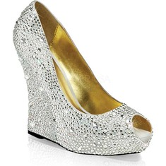 silver prom shoes fabulicious isabelle 18 wedge heel (womenu0027s) tudxwmz