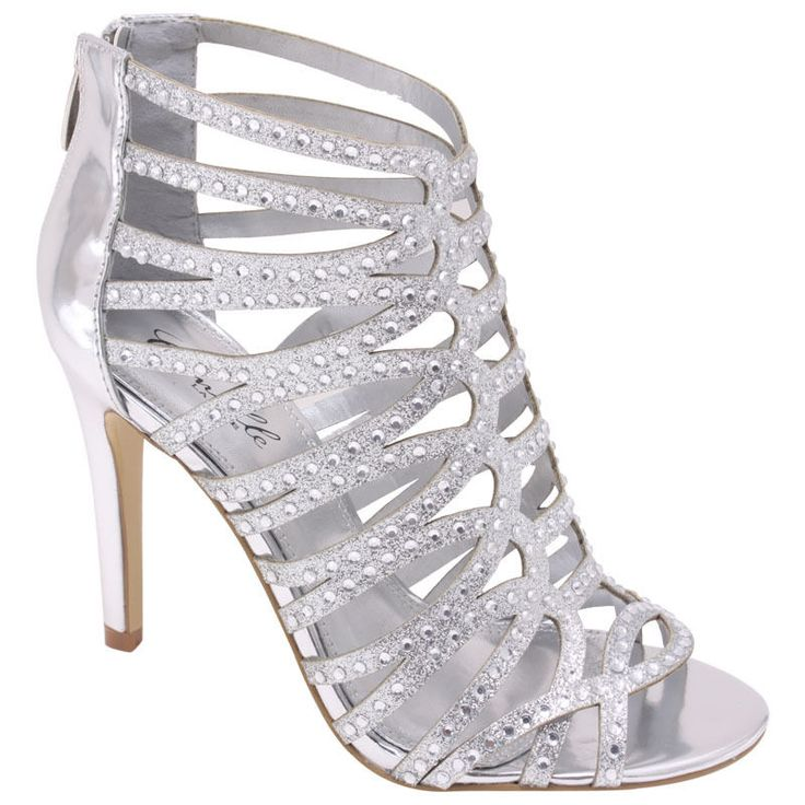 silver prom shoes new silver high heel sandal bridal prom wedding formal shoes strappy  rhinestone cxfgkhw
