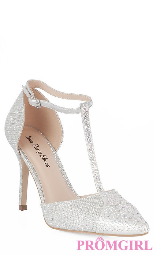 silver prom shoes style: yp-807-piper front image ofunwvk