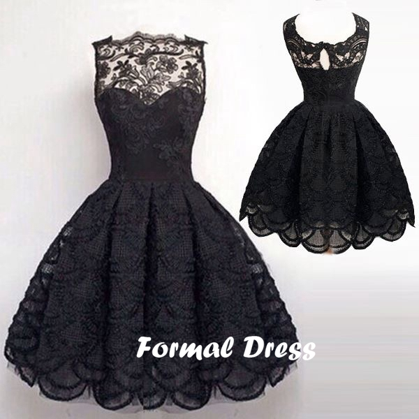 simple dresses simple black a-line lace homecoming dresses,short prom dresses,ball gowns  ... czxclsu
