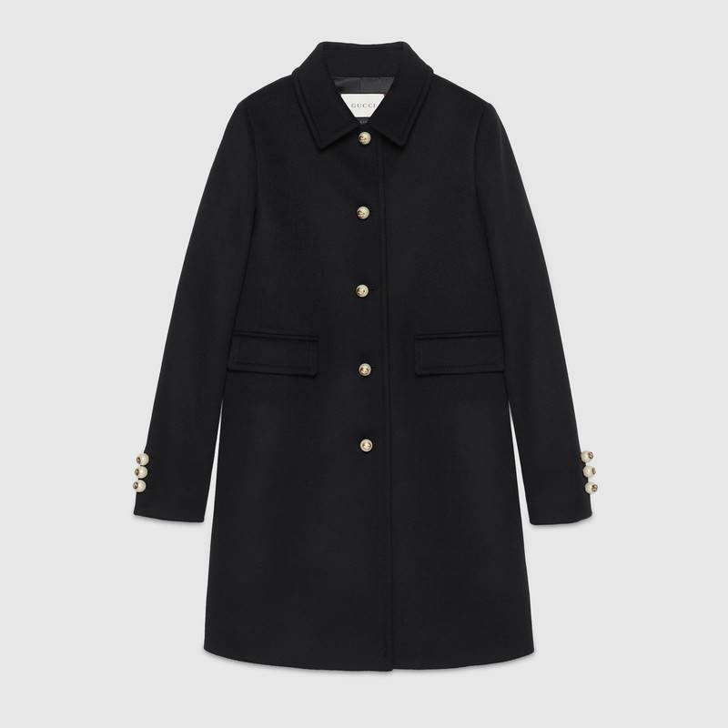 single-breasted wool coat okhvjic