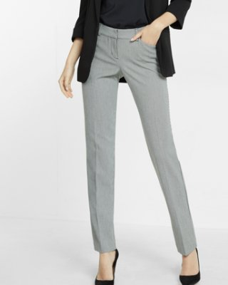 slacks for women express view · low rise houndstooth straight leg editor pant cosbeje