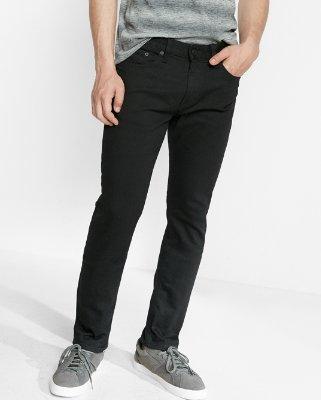 slim fit jeans slim black stretch jeans | express fqftriz